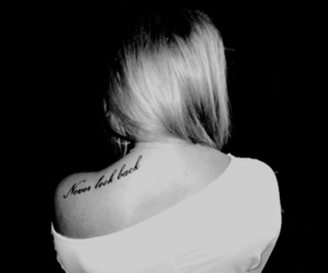 tattoo, girl, and never look back image
