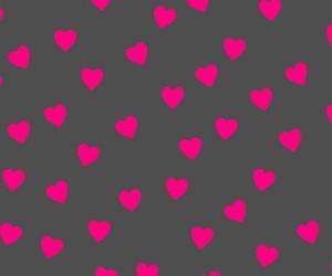 pink, wallpaper, and hearts image