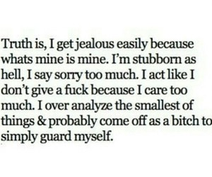 quote, jealous, and jealousy image
