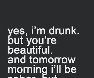 drunk, beautiful, and quote image