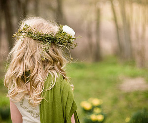 girl, green, and blonde image
