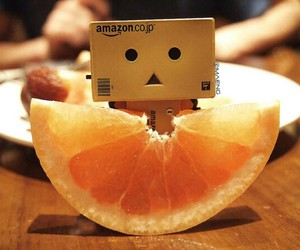 danbo, cute, and fruit image