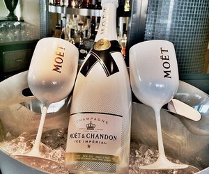 champagne, moet, and luxury image