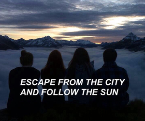 quotes, grunge, and sun image