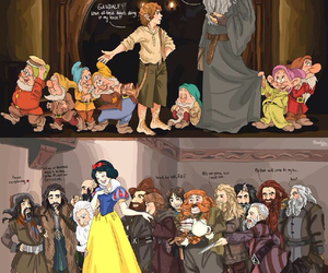snow white, dwarf, and gandalf image
