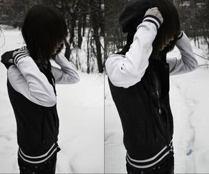 emo, emo boy, and black image