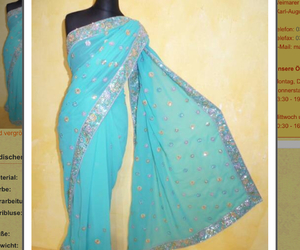indien, sari, and sommer image