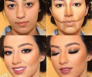 beauty, makeup, and transformation image