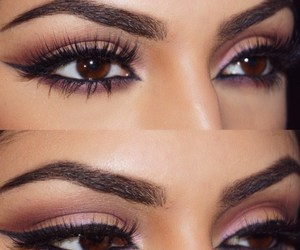 brown, eyes, and fashion image