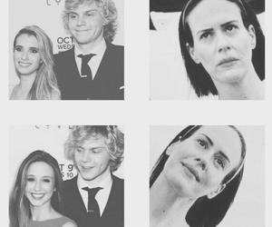 ahs, emma roberts, and evan peters image