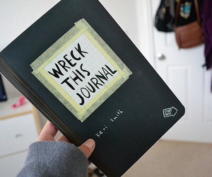 wreck this journal, book, and tumblr image