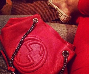 gucci, red, and bag image