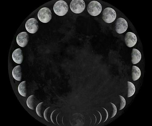 moon, night, and black image