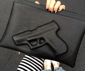 black, gun, and bag image