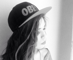 beauty, curly hair, and obey image
