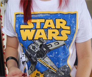 star wars, red hair, and t-shirt image