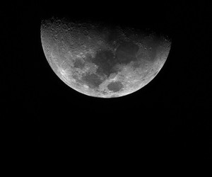 moon, Darkness, and evening image