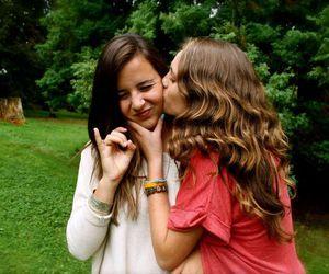 best friends, brunette, and friendship image