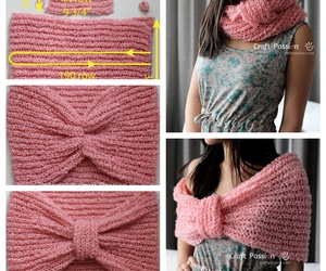 cowl, knitting, and scarf image