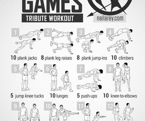 workout, fitness, and hunger games image