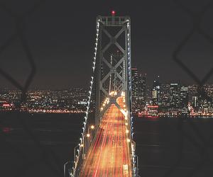bridge, lights, and night image
