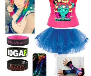 bracelets, emo, and outfit image