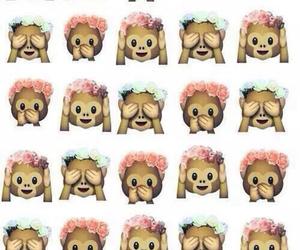 monkey, emoji, and wallpaper image