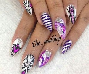 color, nails, and stiletto image
