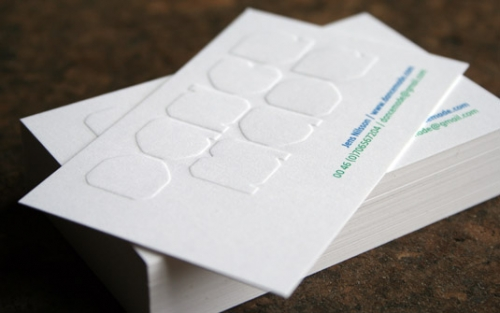 business cards and emboss image