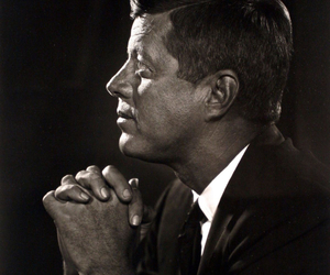 black and white, JFK, and john f kennedy image
