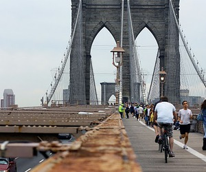 new york, brooklyn bridge, and photography image