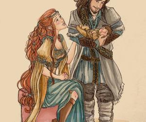 aragorn, artwork, and arwen image