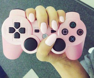 game, nails, and pink image