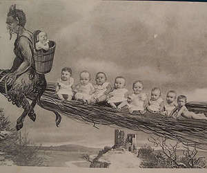 krampus, babies, and christmas image