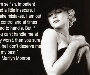 quotes, Marilyn Monroe, and monroe image