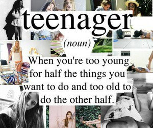 old, teenager, and young image