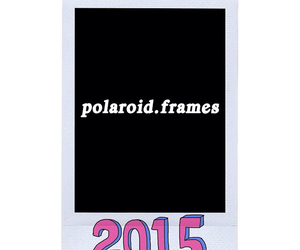 polaroid frame and 2015. image