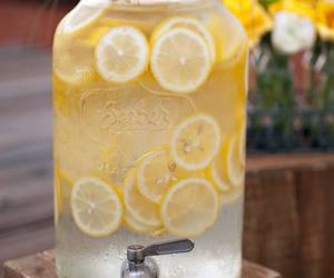 lemon, drink, and lemonade image
