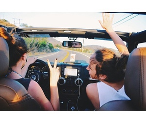 friends, bff, and car image
