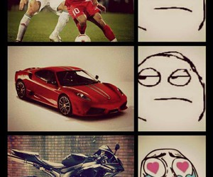 car, football, and funny image