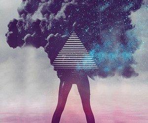 black, smoke, and woman image