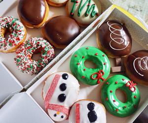 christmas, donut, and food image