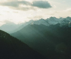 nature, mountains, and vintage image