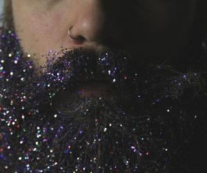 beard, glitter, and man image