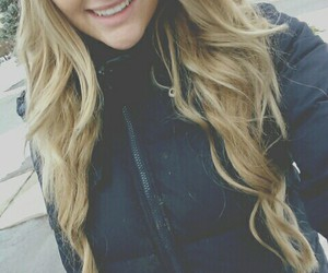 blonde, winter, and selfie image