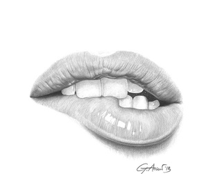 draw and lips image