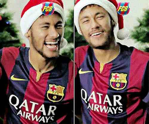 Barcelona, neymar jr, and neymar christmas image