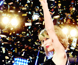 Taylor Swift, 1989, and confetti image