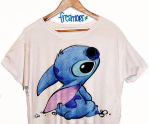 stitch, blue, and shirt image