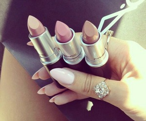lipstick, mac, and nails image